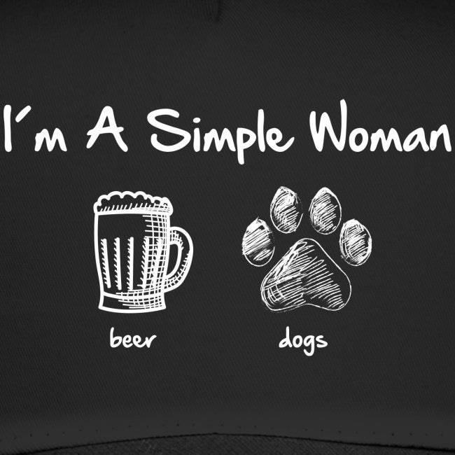 Vorschau: simple woman beer white - Trucker Cap