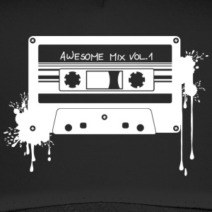 RETRO-KASSETTE in weiß - Trucker Cap