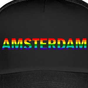 Amsterdam in rainbow colors - Trucker Cap