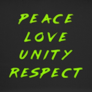 Peeace Love Unity Respect PLUR neon grønn mark - Trucker Cap