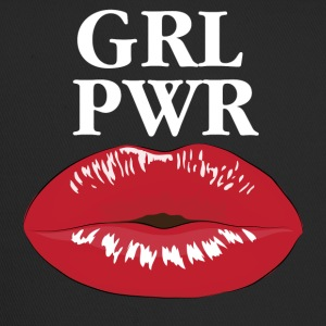 GRL PWR Girl Power Kiss T-Shirt - Trucker Cap