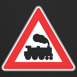 Road sign train with smoke - Trucker Cap