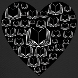 Books Heart black - Trucker Cap