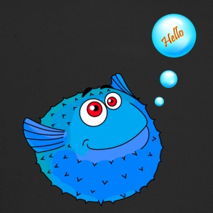 Leuke Blue Puffer Fish - Trucker Cap