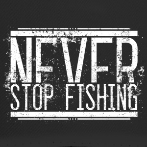 NeverStop Fishing Alt Weiss 001 AllroundDesigns - Trucker Cap