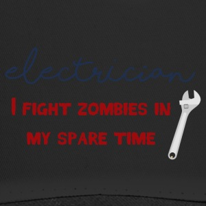 Electrician: Electrician - I fight zombies in my sp - Trucker Cap