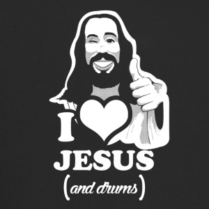 I love Jesus and drums funny sayings - Trucker Cap