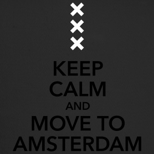 keep calm move to Amsterdam Holland Kreuz Cross - Trucker Cap