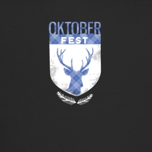 oktoberfest-crest antlers checkered Bayern deer - Trucker Cap