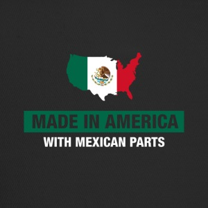 Made In America With Mexican Parts Mexico Flag - Trucker Cap