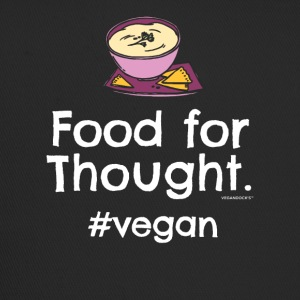 "Végétalien T-shirt ""Food for Thought. #vegan"" - Trucker Cap"