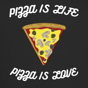 ♥ ♥ Pizza est la vie est l'amour ♥ Pizza Fun T-shirt - Trucker Cap