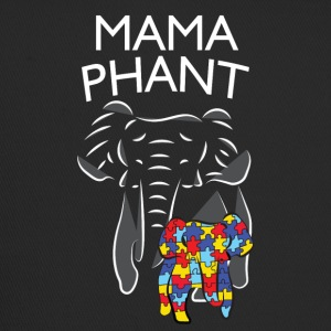 Autism Awareness Mamaphant Mama Olifant T-shirt - Trucker Cap