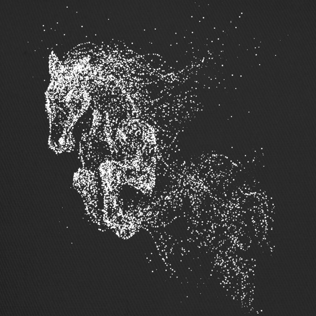 Vorschau: jumping horse white - Trucker Cap