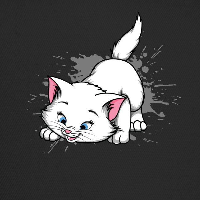 Katze Splash Pfützen Sprung