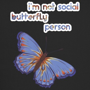 i am not social butterfly person - Trucker Cap