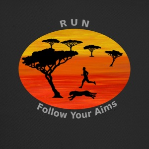 Run Follow your aims, Afrika - Trucker Cap