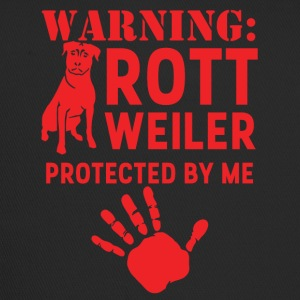 Dog / Rottweiler: Warning - Rottweiler, Protected - Trucker Cap