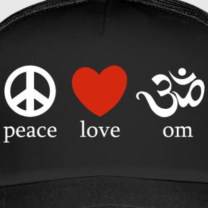 Peace Love Om - Trucker Cap