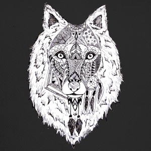 Hand drawn pattern WOLF - Trucker Cap