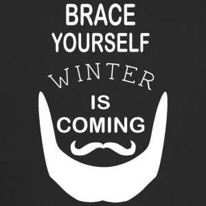 Brace Yourself Winter is Coming with beard - White - Trucker Cap
