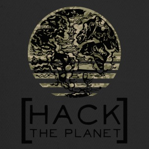 Hack the planet Motto T-Shirt Camouflage - Trucker Cap