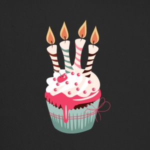 Cupcake with four candles - Trucker Cap