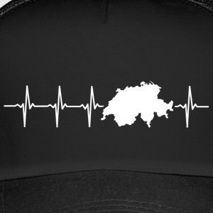 Switzerland, heartbeat design - Trucker Cap