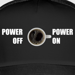Kaffe tröja POWER ON / OFF - Trucker Cap