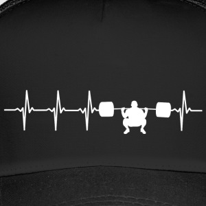 I love weight lifting (heartbeat) - Trucker Cap