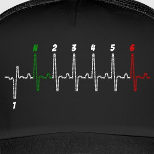 heart beat biker - Trucker Cap