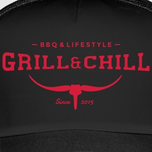 BBQ and Chill / BBQ and Lifestyle logo 2 - Trucker Cap
