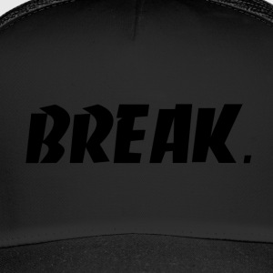 schwarz BREAK - Trucker Cap