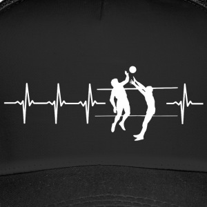 I love volleyball (volleyball heartbeat) - Trucker Cap