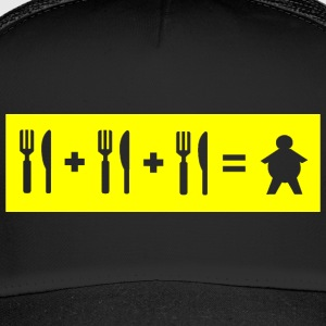 Eat + Eat + Eat = Fat (pochoir) - Trucker Cap
