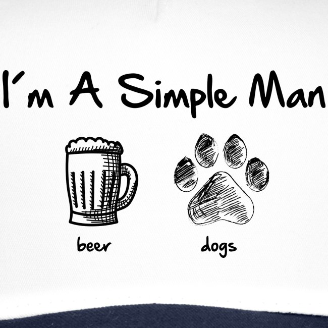 Vorschau: simple man dogs beer - Trucker Cap