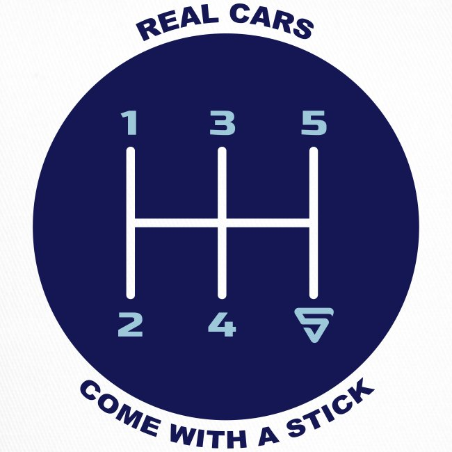 Real cars come with a stick