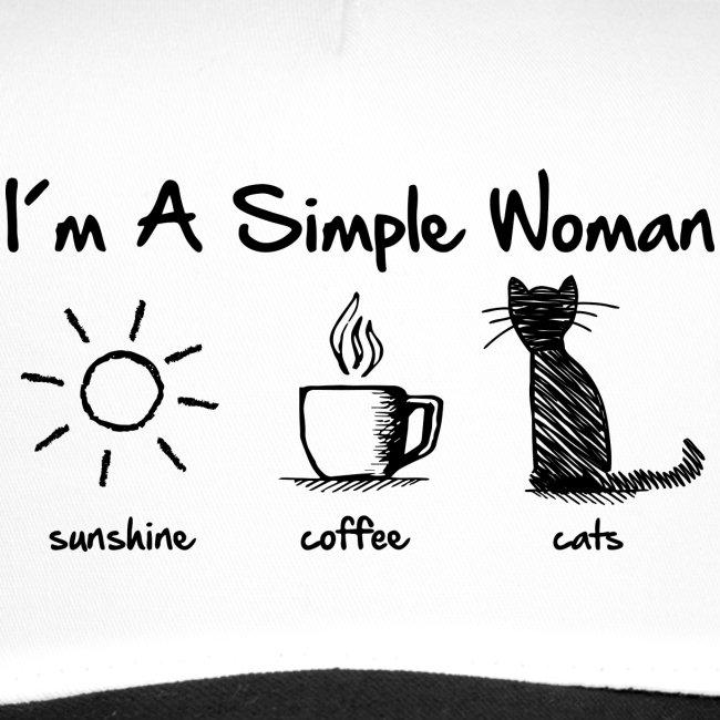 Vorschau: simple woman cats - Trucker Cap