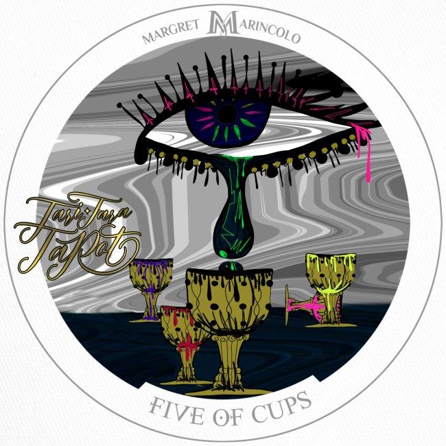 Five of Cups   Fünf der Kelche Tarot Karte