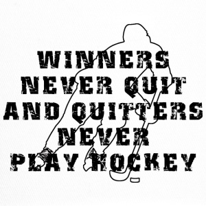 Hockey Winners Never Quit Quitters NEVER Play - Trucker Cap