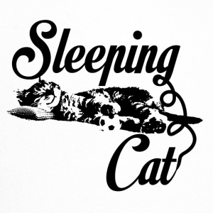 Sleeping katt svart - Trucker Cap