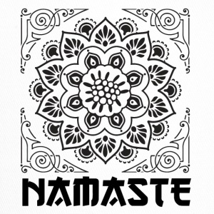 FLOWER BLACK NAMASTE - Trucker Cap
