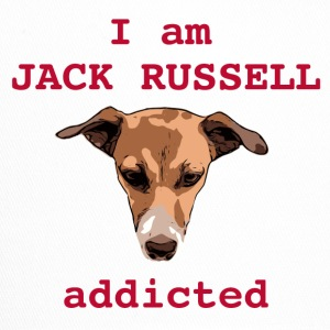 Jack russel addicted red - Trucker Cap