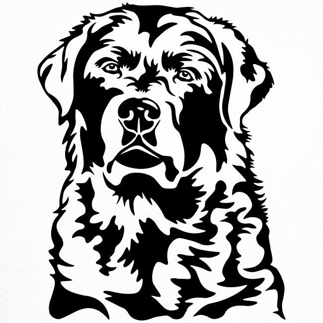 Labradorkopf *dunkel* für helle Textilien