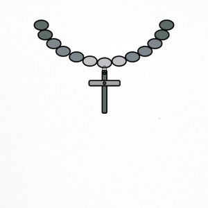 Print necklace with cross silver - Trucker Cap
