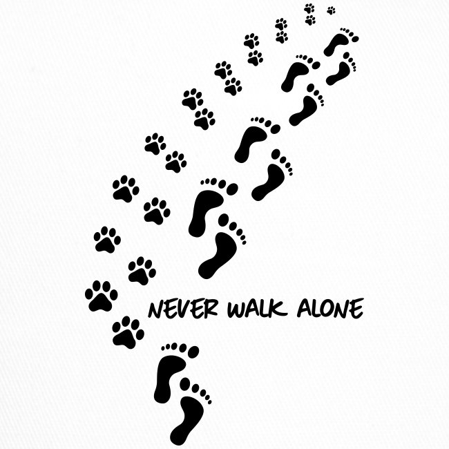 Vorschau: never walk alone dog - Trucker Cap