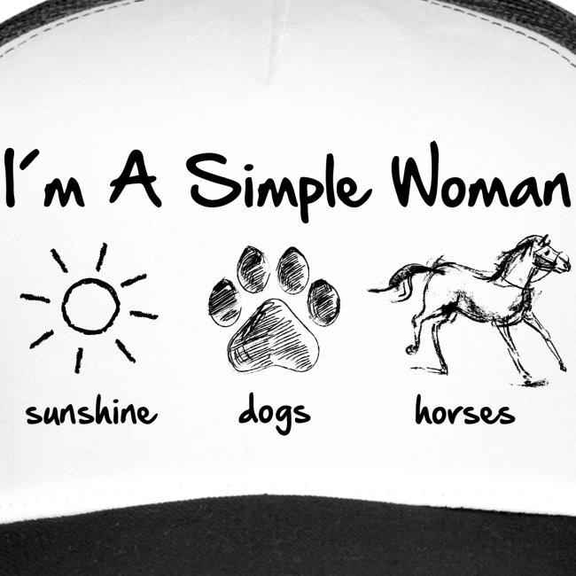 Vorschau: simple woman horse dog - Trucker Cap