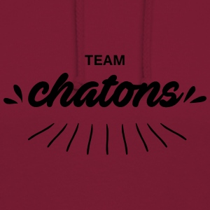 Team Chatons - Sweat-shirt à capuche unisexe