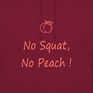 No squat, no peach corail - Sweat-shirt à capuche unisexe