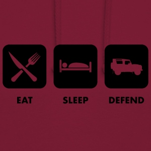 Eat, Sleep & Defend - Felpa con cappuccio unisex